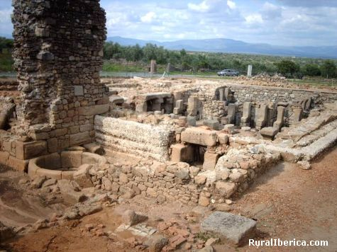 ciudad romana de cáparra - caceres, Cáceres, Extremadura