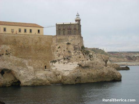 Faro junto a Hospital del Rey. Melilla - Melilla, Melilla, Melilla