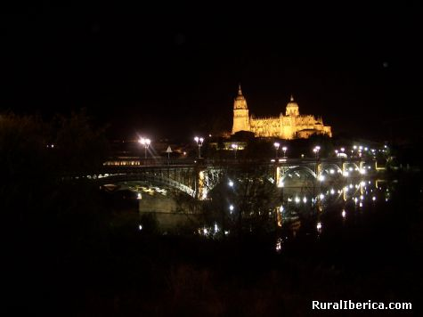 Vista nocturna de Salamanca - Salamanca, Salamanca, Castilla y León