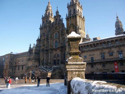 Cando neva en Compostela. Santiago, La Coruña - Santiago, La Coruña, Galicia