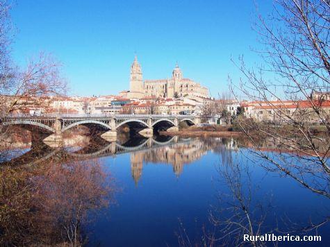 Vista de Salamanca desde el río. Salamanca, Castilla y León - Salamanca, Salamanca, Castilla y León