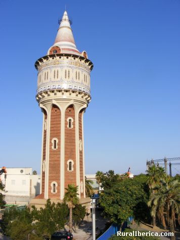 Torre de las Aguas, Parque Paseo Maritimo, Barcelona - Barcelona, Barcelona, Cataluña