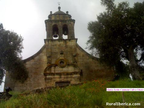 Fachada de la iglesia. Petín, Orense - Petín, Orense, Galicia