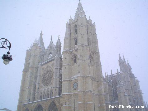 La nevada del 29 de enero de 2006. Catedral de León - León, León, Castilla y León