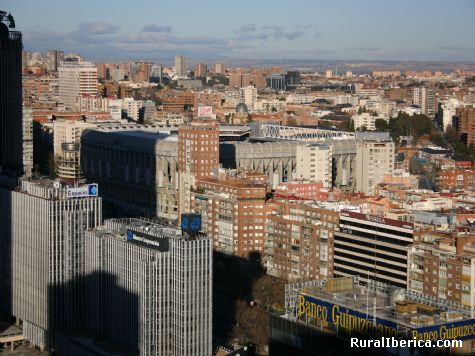 SANTIAGO BERNABEU FOTO TOMADA DESDE EL WINSOR TRES DIAS ANTES DE QUEMARSE - MADRID, Madrid, Madrid