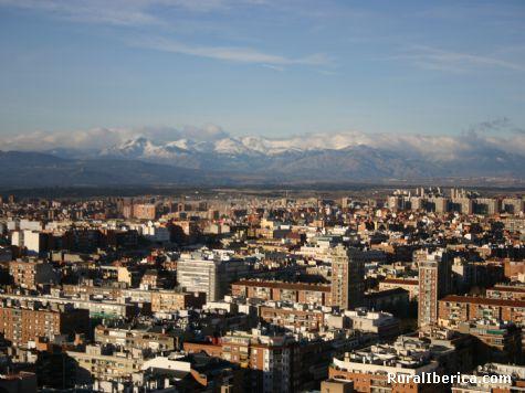 SIERRA DE MADRID DESDE LA TERRAZA DEL WINSOR TRES DIAS ANTES DE QUEMARSE - MADRID, Madrid, Madrid