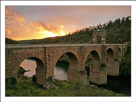 Ocaso en Alcantar - Alcantara, Cáceres, Extremadura
