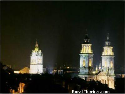 Vista nocturna de la Catedral de Lugo - lugo, Lugo, Galicia