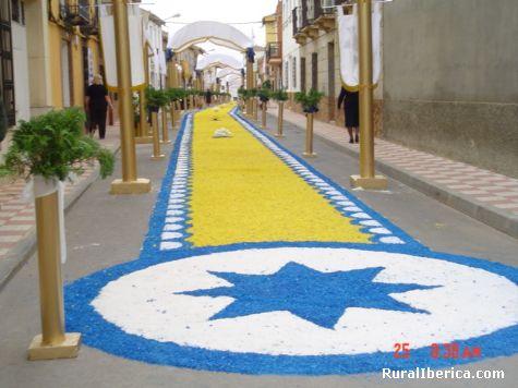Calle Arenas, día del Corpus,  - Torrenueva, Ciudad Real, Castilla la Mancha