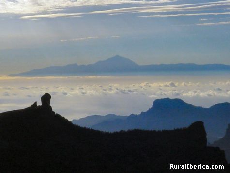 Tenerife desde Gran Canaria - Roque Nublo, Las Palmas, Islas Canarias