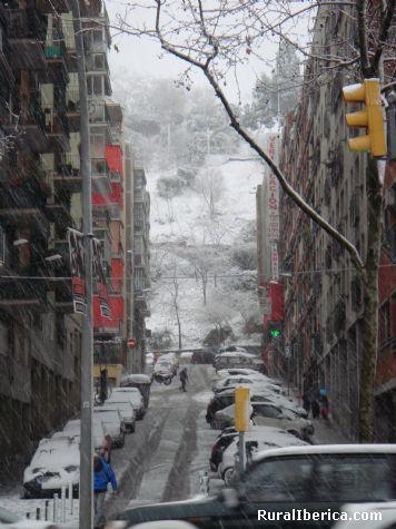 Nevando en Barcelona - Barcelona, Barcelona, Catalu�a