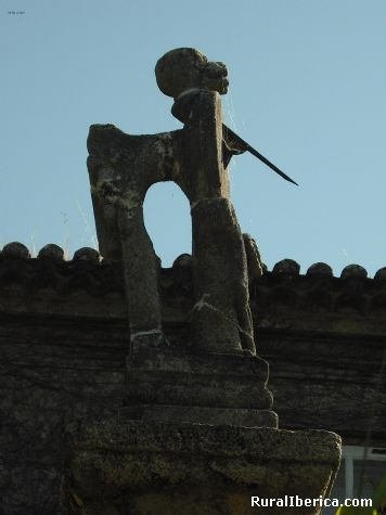 reloj de sol en valeixe - a cañiza, Pontevedra, Galicia