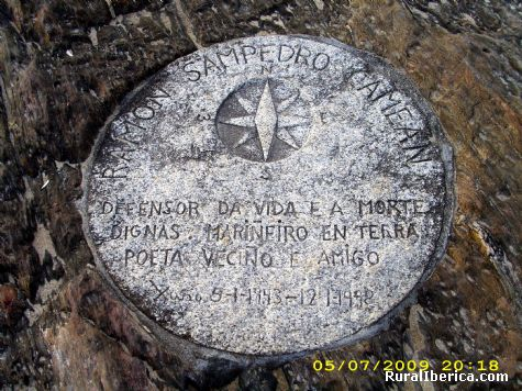Placa en memoria de Ramón Sampedro - Xuño, La Coruña, Galicia