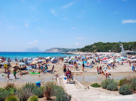 Playa de Moraira y Calpe. Alicante, Comunidad Valenciana - Alicante, Alicante, Comunidad Valenciana