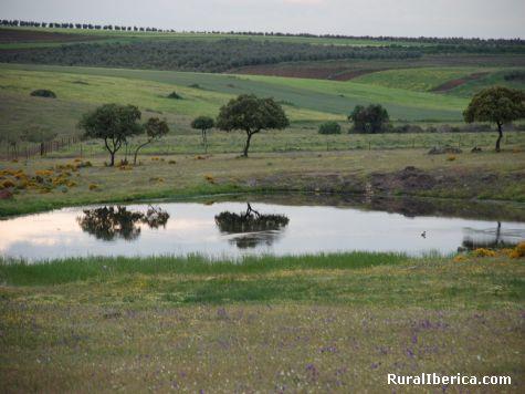 Espejo en los campos Extremeños - Nogales, Badajoz, Extremadura