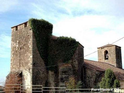 Castillo e Iglesia. Valverde de la Vera, Cáceres - Valverde de la Vera, Cáceres, Extremadura