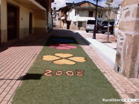 Las tradicionales alfombras de Corùs en Petín - PETIN, Orense, Galicia