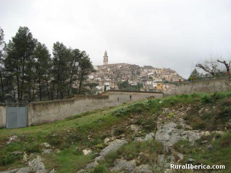 Vista de Bocairent desde el camino de Sant Antoni - Bocairent, Valencia, Comunidad Valenciana