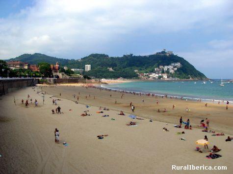 Playa de La Concha. San Sebastián, Vizcaya - San Sebastián, Vizcaya, País Vasco