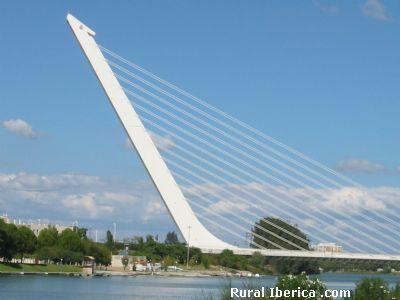 Puente del Alamillo - Sevilla, Sevilla, Andalucía
