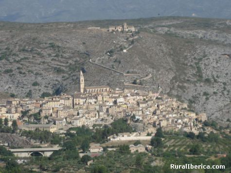 Vista desde el camino de Sant Jaume. Bocairent, Valencia - Bocairent, Valencia, Comunidad Valenciana