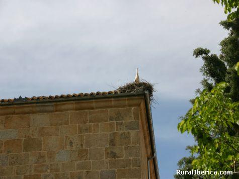 Cigueña en la iglesia de la Vega, Avila - San Martín de la Vega del Alberche, Avila, Castilla y León