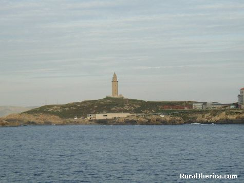 Vista de la Torre de Hercules. La Coruña, Galicia - La Coruña, La Coruña, Galicia