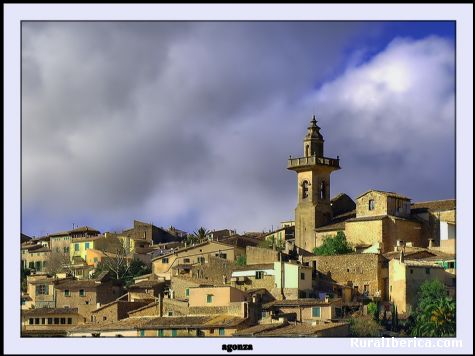 Valldemossa torre de la iglesia - Valldemossa, Baleares, Islas Baleares