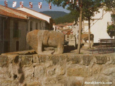 Verracos ibéricos en la Plaza Mayor de Villatoro - Villatoro, Ávila, Castilla y León