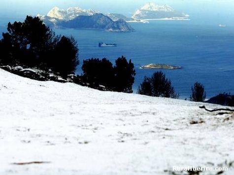 Neve nas cies, isto case nunca acontece - vigo, Pontevedra, Galicia
