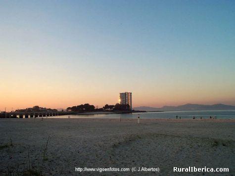 Posta de sol en toralla - Vigo, Pontevedra, Galicia
