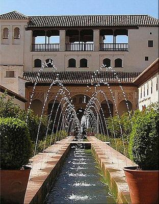 Granada, fuentes de La Alhambra - Granada, Andalucía