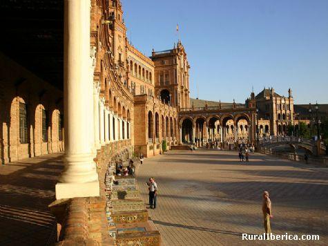 Plaza España. Sevilla, Andalucía - Sevilla, Sevilla, Andalucía