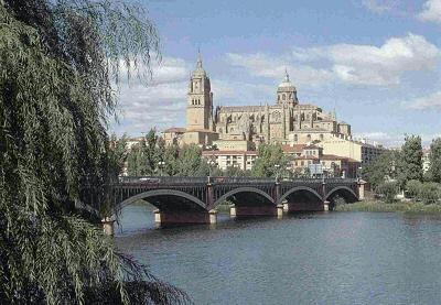 Salamanca, vista desde el otro lado del Río Tormes - Salamanca, Castilla y león
