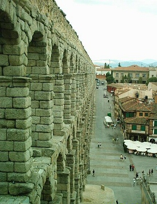 Segovia, el acueducto - Segovia, Castilla y León