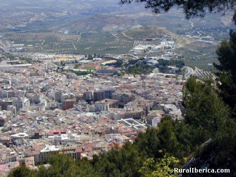 Vista parcial de La ciudad de Jaén. Jaén, Andalucía - Jaén, Jaén, Andalucía